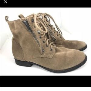 Sam Edelman Suede Military Booties - Taupe
